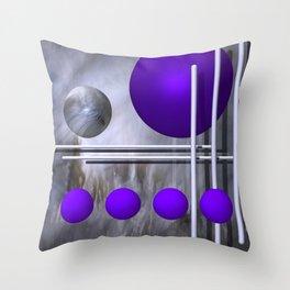 violet decoration Throw Pillow