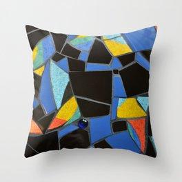 Toucan Dance Mosaic Throw Pillow