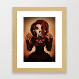 Skull Theatre Framed Art Print