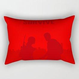 Minimalist Ellie and Joel ( The last of us ) Rectangular Pillow