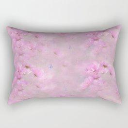 PINK SPRING TIME FLOWER GARDEN Rectangular Pillow