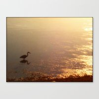 crane Canvas Prints featuring Crane by Jennifer L. Craft