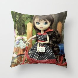 ** Milk and bread for breakfast ** Throw Pillow
