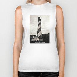 St. Augustine Florida Lighthouse Biker Tank
