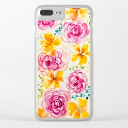 Floral Whimsy Clear iPhone Case