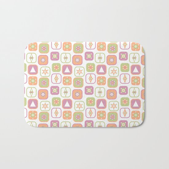 Abstract geometric pattern in pastel colors Bath Mat