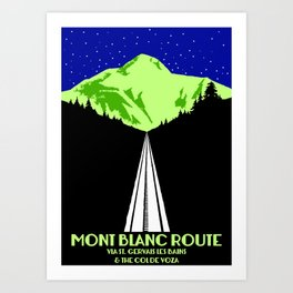 Mont Blanc Alps railway route Art Print