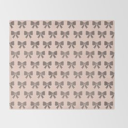 Dotty Bows  Throw Blanket