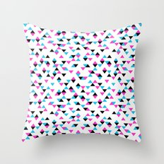 Electric Triangles Throw Pillow