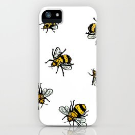 Just Some Beez A - White iPhone Case