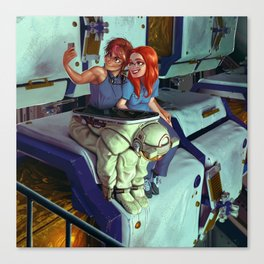 Sveta and Bella take a Selfie Canvas Print