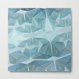 Winter geometric style - minimalist Metal Print