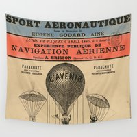 sport Wall Tapestries featuring Sport Aeronaute by DAChiemsee