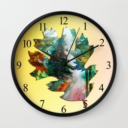 Autumn Leaf Art Wall Clock