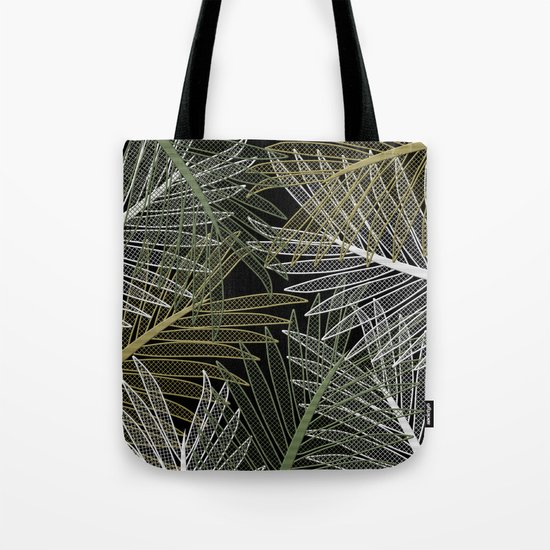 TROPICAL LEAVES GARDEN Tote Bag