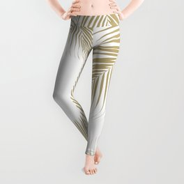 Palm Leaves - Gold Cali Vibes #3 #tropical #decor #art #society6 Leggings