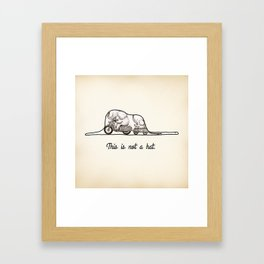 This is not a hat Framed Art Print