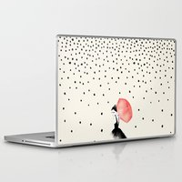karen hallion Laptop & iPad Skins featuring Polka Rain by Karen Hofstetter