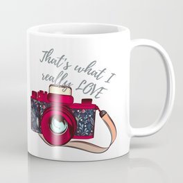 Retro camera. Fashion design Coffee Mug