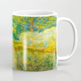 Václav Radimský (1867-1946) Branch of a river Impressionist Landscape Painting Bright Colors Oil Coffee Mug