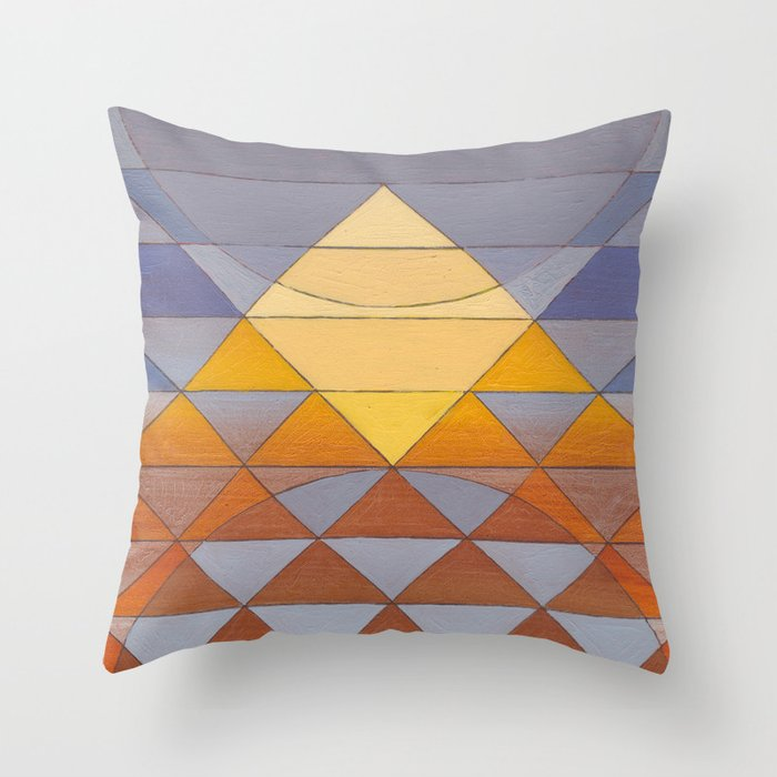 Pyramid Sun Mauve Purple Throw Pillow