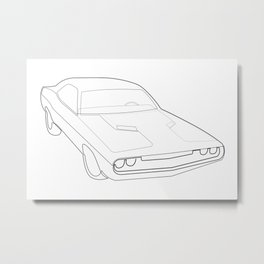 '70 Challenger - One Line Metal Print