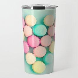 Macarons, macaroons heart II, pop art Travel Mug