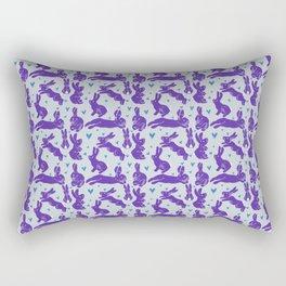 Bunny love - Purple Carrot edition Rectangular Pillow