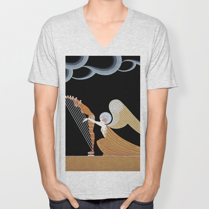 "Art Deco Design ""The Angel"" Unisex V-Neck"