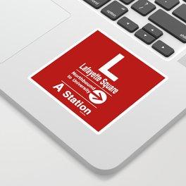 Lafayette Square Northbound Sticker