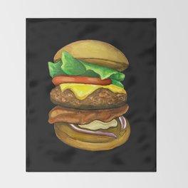 Burger Throw Blanket