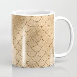 Glam Gold Mermaid Scallops Coffee Mug