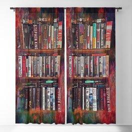 Stephen King Books on Shelves Blackout Curtain