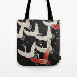 Furisode with a Myriad of Flying Cranes (Japan) Tote Bag