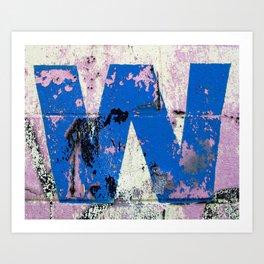 Blue W Art Print