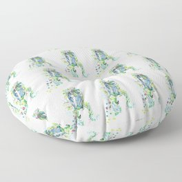 the forest girl Floor Pillow