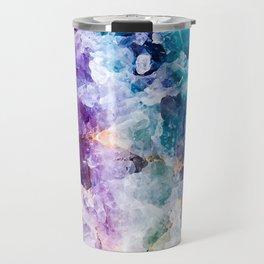 Multicolor quartz texture Travel Mug