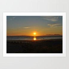 sunset over arran Art Print