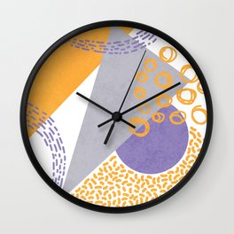 Triangles and sprinkles Wall Clock