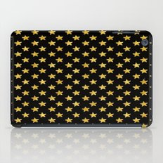 Chic Glam Gold and Black Stars iPad Case