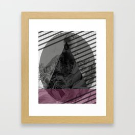 Within These Words Framed Art Print