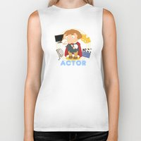 actor Biker Tanks featuring Actor by Alapapaju
