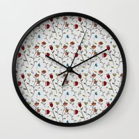 spice Wall Clocks featuring Floral Spice by Itaya Art