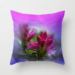 the smell of rhododendron Throw Pillow