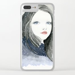 Embracing A Misty Morning Clear iPhone Case
