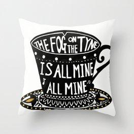 The Fog on the Tyne Tea Cup Throw Pillow