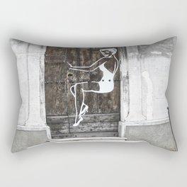 Streetart Women in Avignon Rectangular Pillow