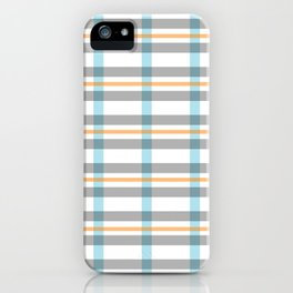 Stripe art in soft colors iPhone Case