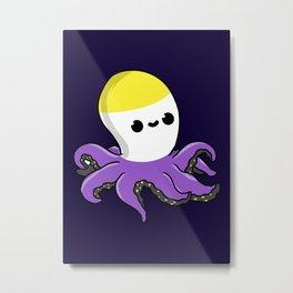 Non-Binary Octopus Non-Binary Gift Metal Print