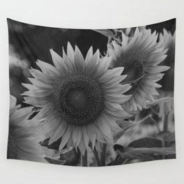 girasol (blanco y negro) Wall Tapestry